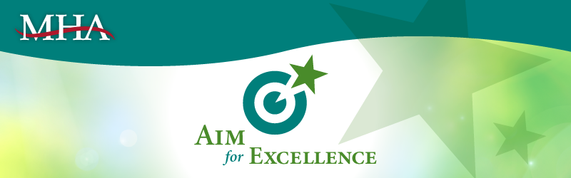 Aim for Excellence Award Header