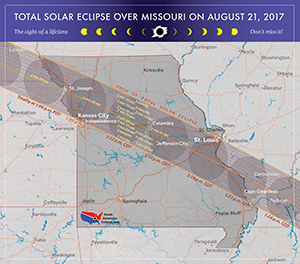 Missouri path of the eclipse